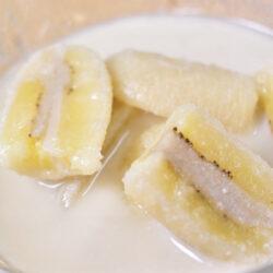 Thaise Banaan in kokossaus Kluay Buat Chie
